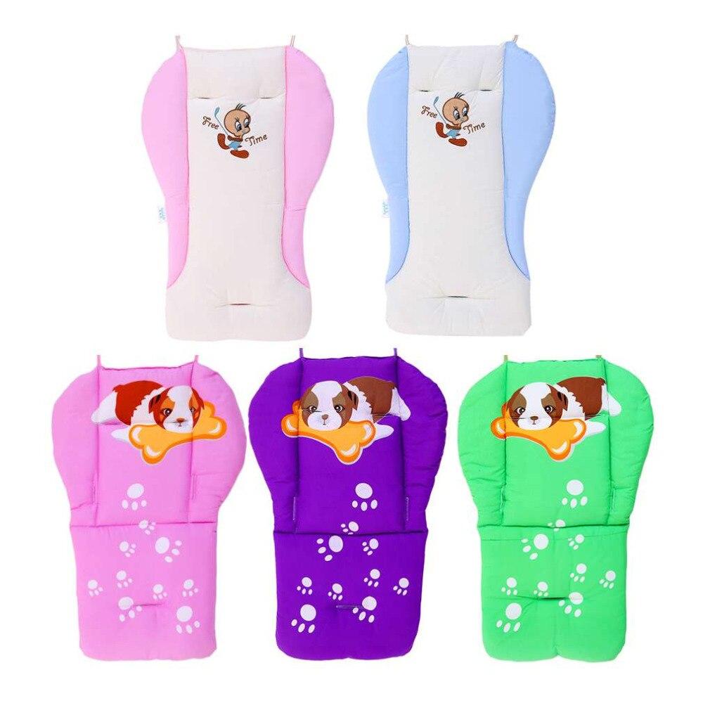 100% Brand New Cartoon Cotton Stroller Liner Seat Cushion Pram Pad Waterproof Baby Chair/Car Seat Pads Stroller Accessories