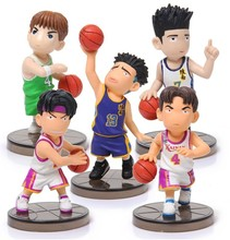 Free Shipping Japanese Anime Slam Dunk Ryonan basketball team PVC Action Figures Dolls Boys Toys Doll Kids gift 5pcs/set zy078