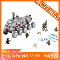 Star Toys Wars Compatible Legoings 75151 933Pcs Clone Set Turbo Tank Set Building Blocks Bricks StarWars Kids boys Birthday Toys