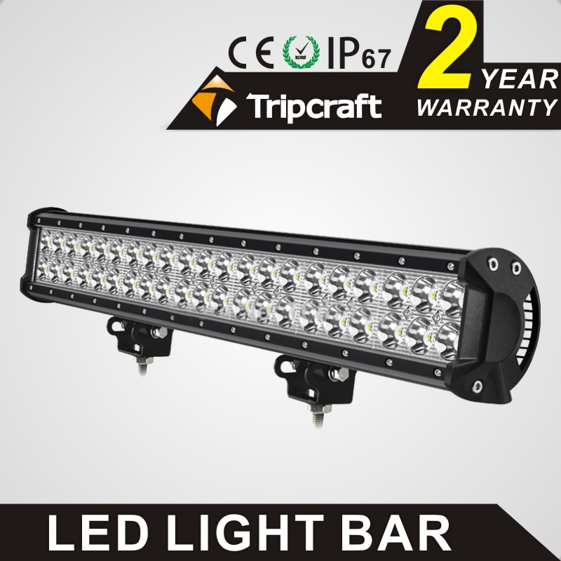 TRIPCRAFT 126w led work light bar 20inch spot flood combo beam car light for offroad 4x4 truck SUV ATV 4WD driving lamp fog lamp tripcraft 12000lm car light 120w led work light bar for tractor boat offroad 4wd 4x4 truck suv atv spot flood combo beam 12v 24v