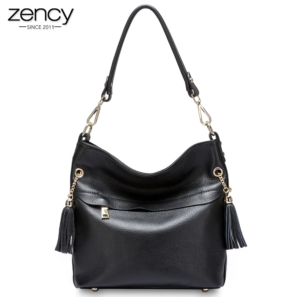 New Arrival genuine leather Women Casual Hangbags Fashion Totes for female Lady Shoulder Bags Nice Tassel Zipper Purses ipad bag spring new elegant leather women handbag smooth skin lady shoulder bags female small casual totes cover zipper crossbody packs