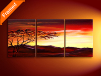 Natural scenery 5 piece canvas art set decorative landscape oil painting for living room high quality wall pictures