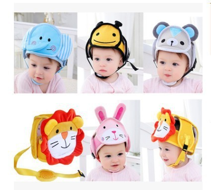 Infant Safety Protective Helmet Cap For Kids Learn Walking Anti-collision Hat Toddler Soft Head Protection Adjustable Baby Care