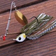 1pcs Trulinoya brand 12g/18g Spinner Bait with Brass Fishing Spoon Lure Metal Jig Jigging lure Swimbait Spinnerbait