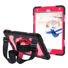 For iPad Mini 5 / 4 Case with Pencil Holder Heavy Duty Case with 360 Degree Rotation Shoulder Hand Strap and Stand-Miesherk все цены