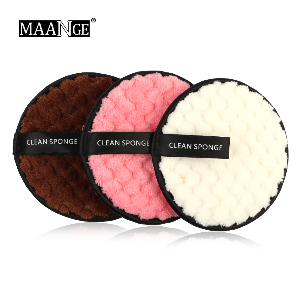 3 Color High Quality Soft Flannelette Sponge Double Sided Makeup Remove Puff Women Lady Beauty Makeup Wash Facial Cosmetic Tool