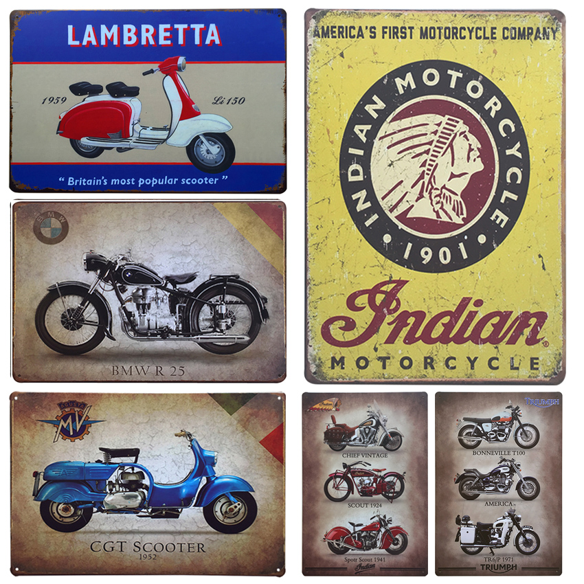 Cool Motorcycle Tin Sign Vintage Home Decor Tin Sign X Metal - Bmw motorcycle tin signs