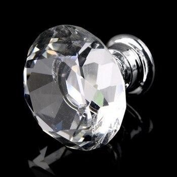 цена на 1pack/10 Pcs 30mm Diamond Shape Crystal Glass Drawer Cabinet Knob Pull Handle Kitchen Door Wardrobe Hardware