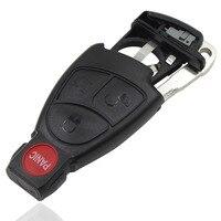 Новый 4 Пуговицы 3 + 1 Пуговицы Uncut дистанционного запись Smart Key случае В виде ракушки для Benz Keyless Cover пустой лезвие и Batery держатель