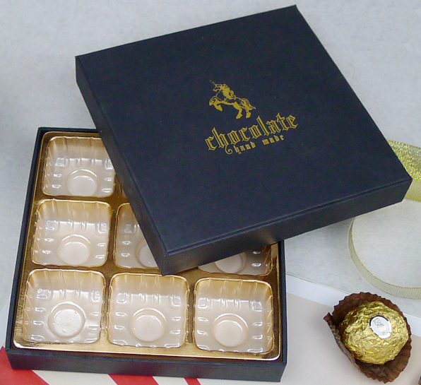 14.5*14.5*3CM Chocolate Box Bakery Box For Candy Packaging Paper Boxes100piece\lot.