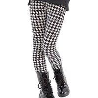 2015 Spring Autumn Girls Plaid Leggings Fashion Kids Elastic Trousers Children Pencil Pants Kids Leggings For