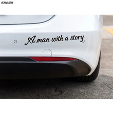 A man with a story Car Stickers for Jeep Commander Compass Grand Cherokee Liberty Patriot Wrangler Any Car Styling