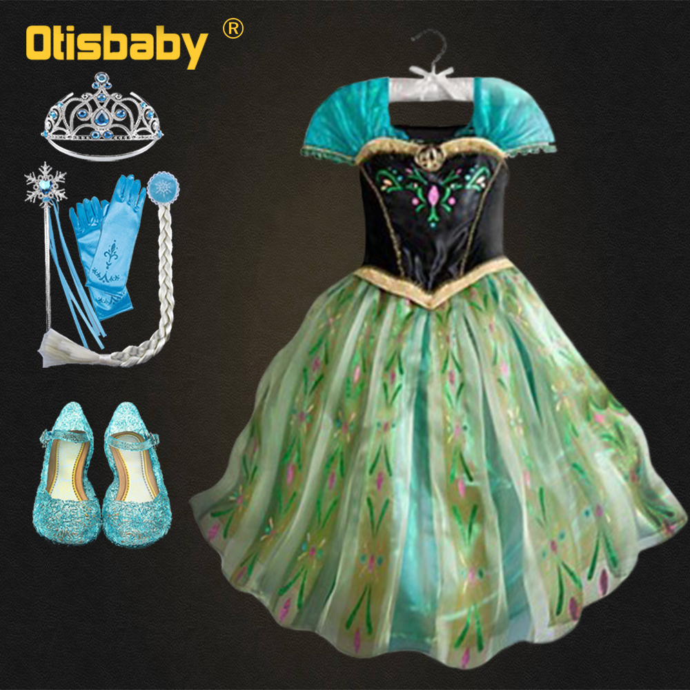 Kids Cosplay Costume Dress Cinderella Elsa Baby Girls: New Baby Girl Anna Elsa Dress High Grade Princess
