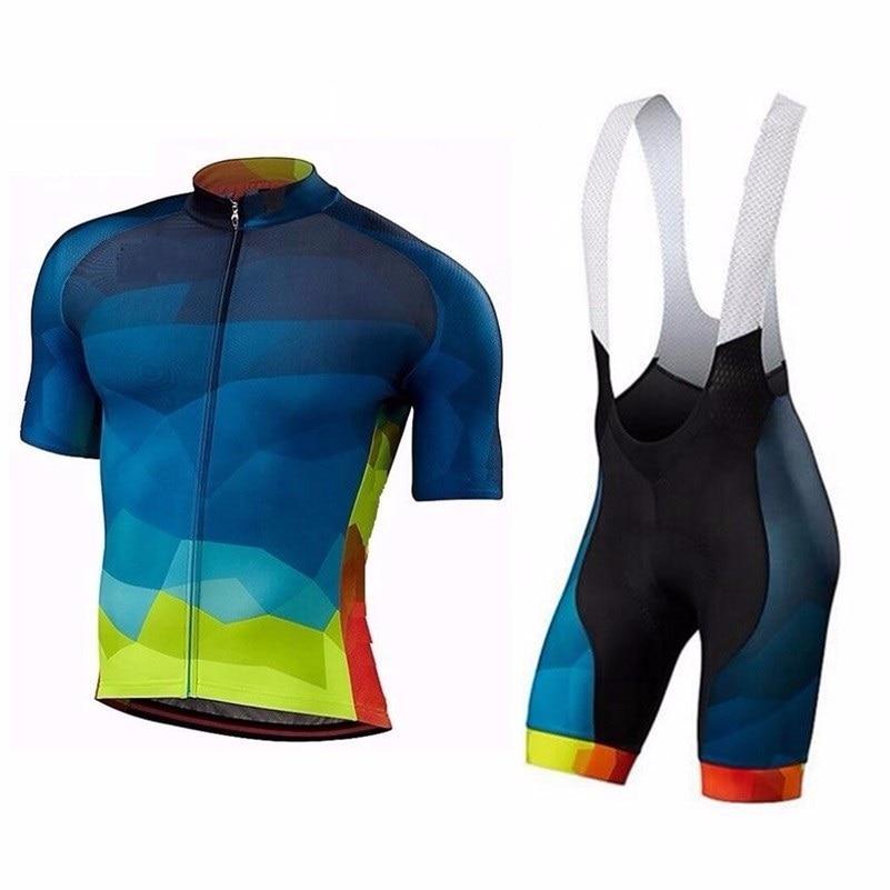 Prix pour 2017 Nouveau Pro Cycling team Jersey Vélo Vêtements Ropa Ciclismo Respirant À Manches Courtes 100% Polyester vêtements de cyclisme Pour VTT et CC