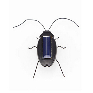 Black Children Insect Bug Teaching Fun Gadget Toy Gift Power Energy Solar Cockroach 6 Legs Babies Kids Novelty Solar Toys