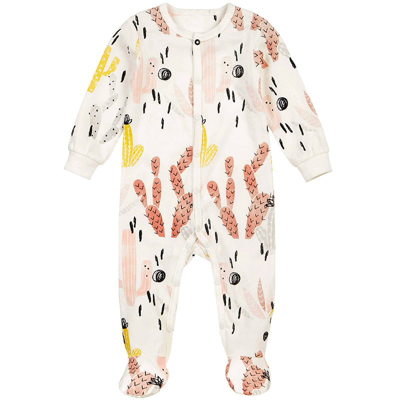 Baby Clothes Tiny Cottons Newborn Girl Romper Funny Coloful Cactus Printed Toddler Jumpsuit Rompers Boy Clothing Onesie Costume 2017 funny baby christmas rompers tiny cottons red green long sleeve toddler fashion jumpsuit sunsuits baby party
