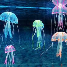 Светящийся эффект, искусственная Медуза, аквариум, украшение для аквариума, мини-подводная лодка, украшение, подводный декор для домашних животных, Прямая поставка
