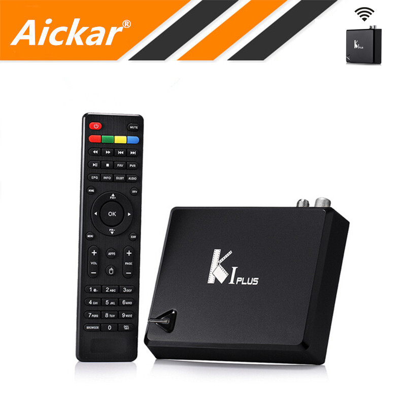 Prix pour KI Plus T2 S2 Android TV Box Amlogic S905 Quad Core 64-Bit 1 GB/8 GB WIFI 2.4G DVB-T2 DVB-S2 IPTV KODI Smart TV Box Media Player
