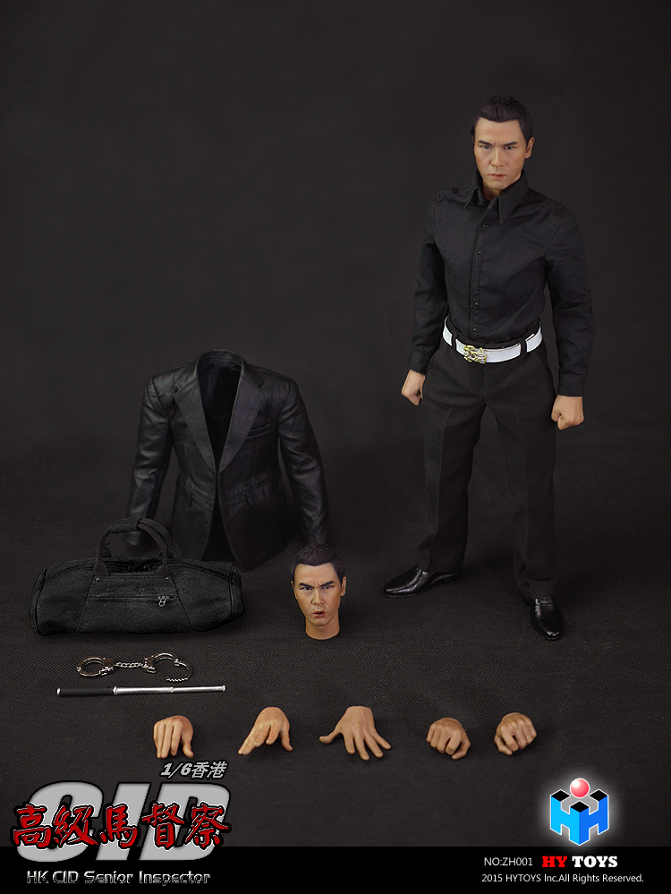HY TOYS ZH001 1/6 Hong Kong Police CID Senior Inspector Ma SIR with The Body Double Head Carving 12  Collection Figure 1 kenolux shine cid lines 981794
