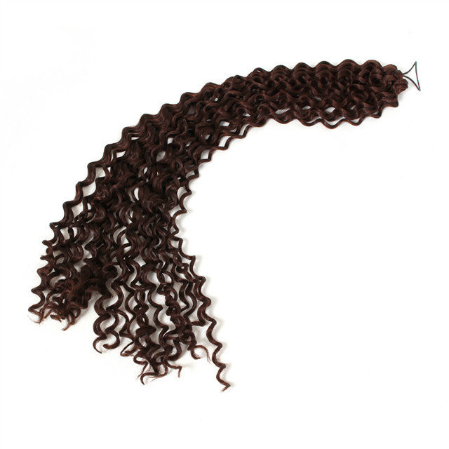 3PCS curlkalon 18 inch water Weave natural and soft synthetic crochet braids black/brown braiding hair extensions