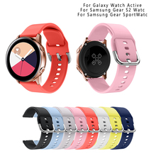 20mm Silicone strap for Samsung Galaxy Watch Active Gear S2 Gear Sport Watch for Samsung Galaxy Watch(42mm)Sport bracelet Rubber samsung gear s2 sport silver