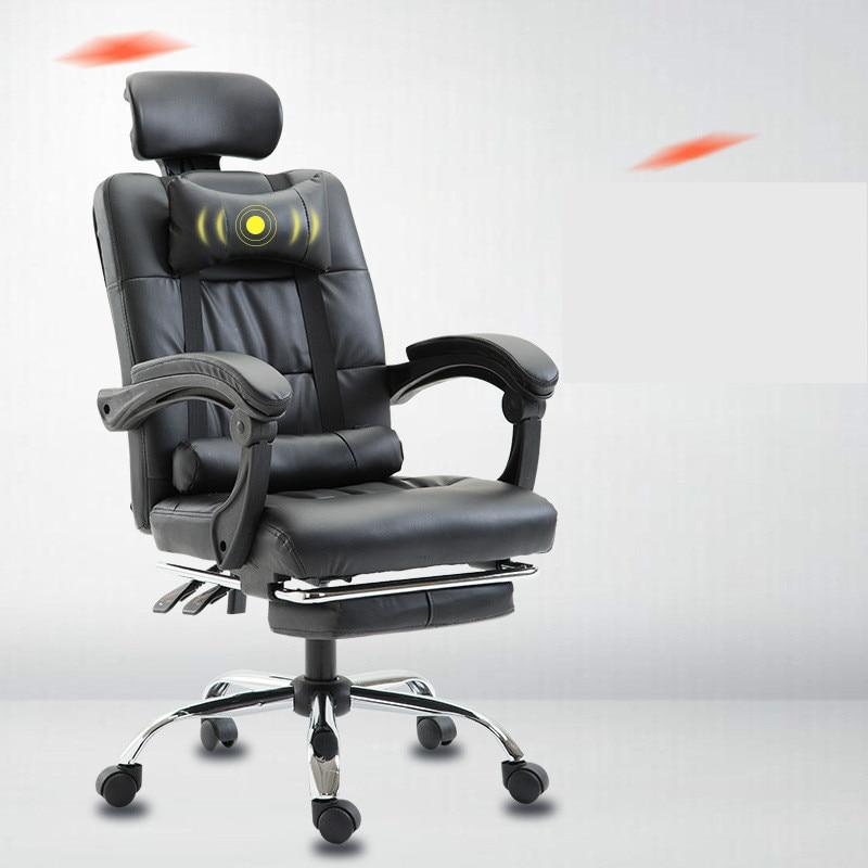 Computer Chair Household Office Boss Chair Modern Simple Recline Massage Gaming Chair Lift Swivel Silla Oficina Silla Gamer