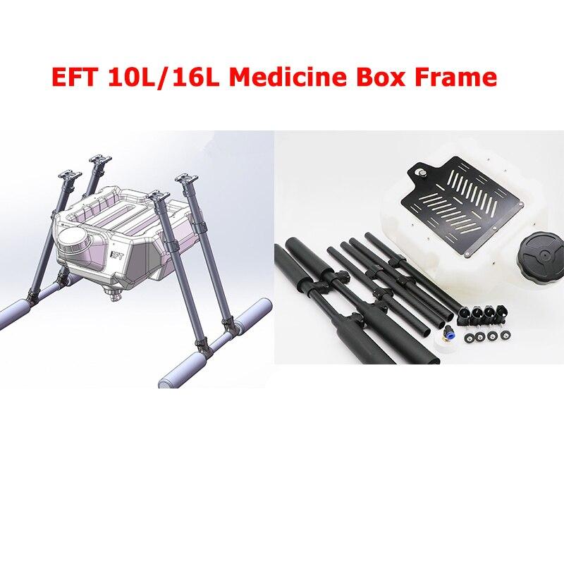 EFT 10L/16L boîte à médicaments drone agricole cadre en fibre de carbone protection des plantes drone stand pour drone agricole