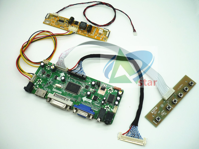 HDMI+DVI+VGA+AUDIO LCD Controller Board Kit 19.5