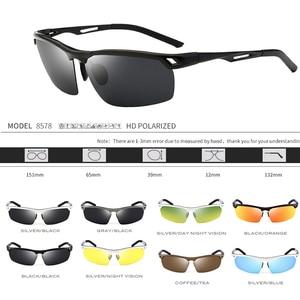 Image 2 - 2019 رجل الاستقطاب ليلة القيادة النظارات الشمسية الرجال العلامة التجارية مصمم عدسات صفراء اللون للرؤية الليلية نظارات للقيادة نظارات تقليل وهج