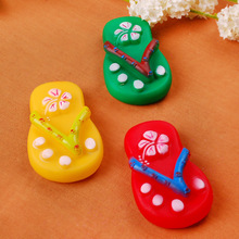 The pet dog toy,pet toy slippers for bite Small Size Pet Dog love Toy Squeak Squeaker Chew Gift Cute multicolor slippers