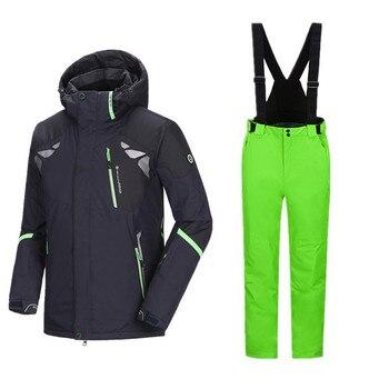 deaf689dc88 Зимние Для мужчин  лыжный костюм Комплекты для сноубординга Для ...