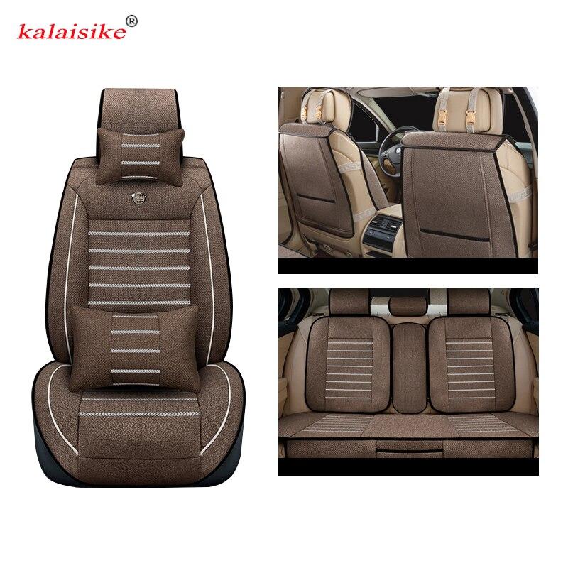 Kalaisike Linen Universal Car Seat covers for Lifan all model 320 330 520 X60 X50 720 620 820 620EV 530 630 car styling ортопедические авточехлы other brands sceo 320 330 530 520 620 630 720 x60x50