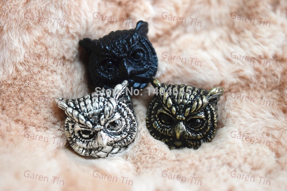 Unique New Design Antique Royal Style Retro Cute Owl Ring For Men And Women Animal Rings Garen Tin