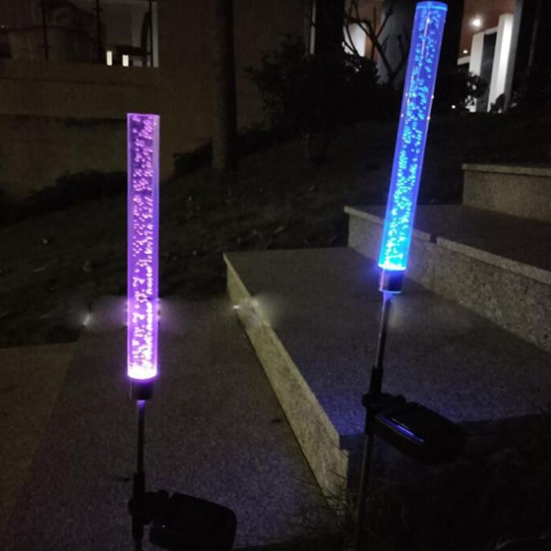 ソーラーガーデンライト Led ソーラー屋外芝生アクリルガス圧力バブルライトガーデン芝生風景の装飾ランプステークライト -