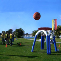 Fun inflatable outdoor games Basketball shooting for kids