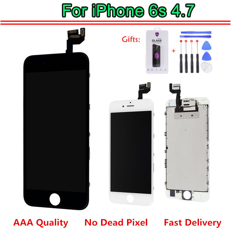AAA LCD For iphone 6S Display Full Set Assembly Touch Screen Digitizer Replacement Front Camera 3D
