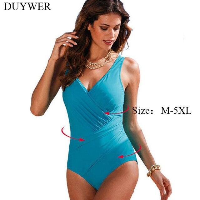 ed68a15bf0f8 Plus Size One Piece Swimsuit 5XL 4XL XXXL XXL XL Swimsuit Black Bodysuit  Jumpsuit Curvy Women Swimwear Black Bathing Suit Ladies