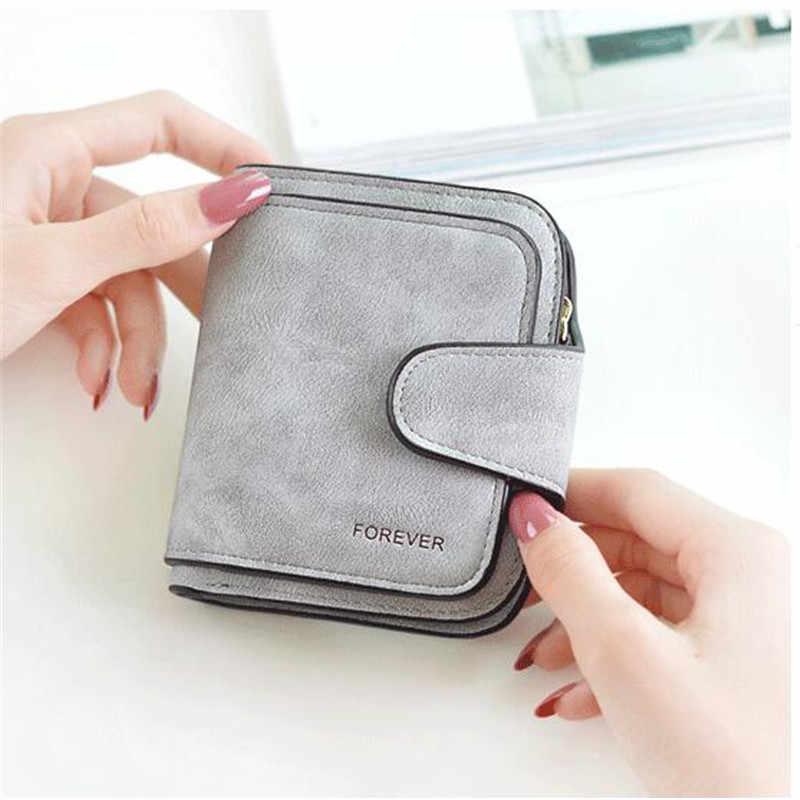 add5c0d81339 Нубук Для женщин кошельки Женская мода молнии маленький кошелек Для женщин  короткие портмоне держатели ретро портмоне