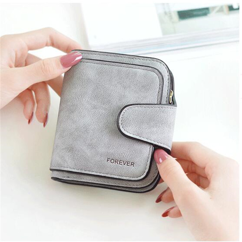 Nubuck bőr női pénztárcák női divat cipzáras kis pénztárca női rövid érme pénztárca tulajdonosok retro pénztárca és pénztárcák portfolió