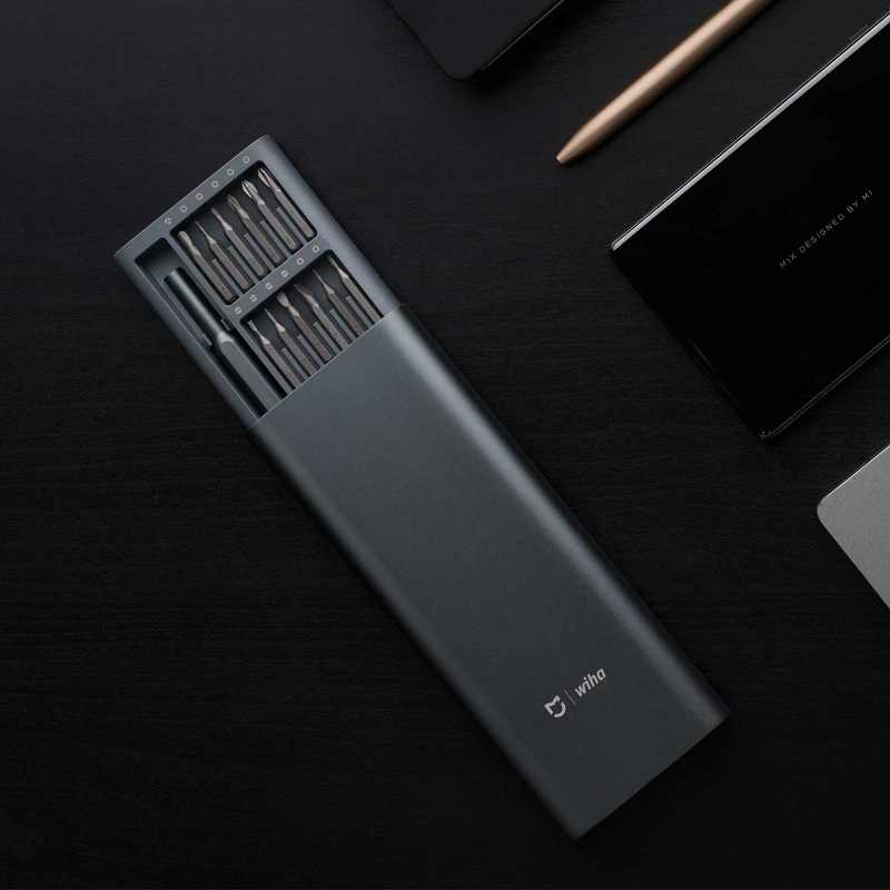 Xiaomi Mijia Wiha 24 in 1 Precision Screw Driver Kit Magnetic Bits Xiaomi Home Kit DIY Repair Tools with Alluminum Box