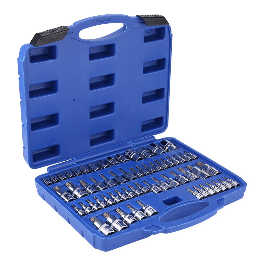 Torx socket wrench set I E4-E20 nuts set I T10-T60 Torx set I sockets bit inserts socket wrench inserts 34 pcs