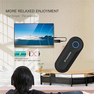 Image 2 - Bluetooth 4.2 טלוויזיה משדר aptX 3.5MM שקע אודיו מתאם לטלוויזיה & לזווג