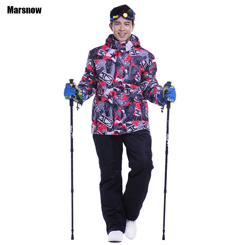 Newest ski suits men jacket+pants snowboarding skiing jackets Sports Waterproof Windproof Breathable snowboarding clothes