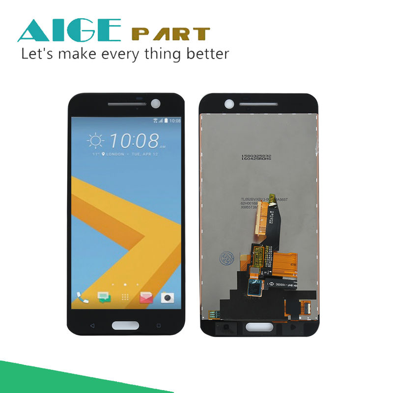 Подробнее о Black Full LCD DIsplay + Touch Screen Digitizer Assembly For HTC 10 TD-LTE M10h / One M10 ( HTC Perfume ) Free shipping new full lcd display touch screen digitizer lens assembly for htc one x plus s728e lte free shipping
