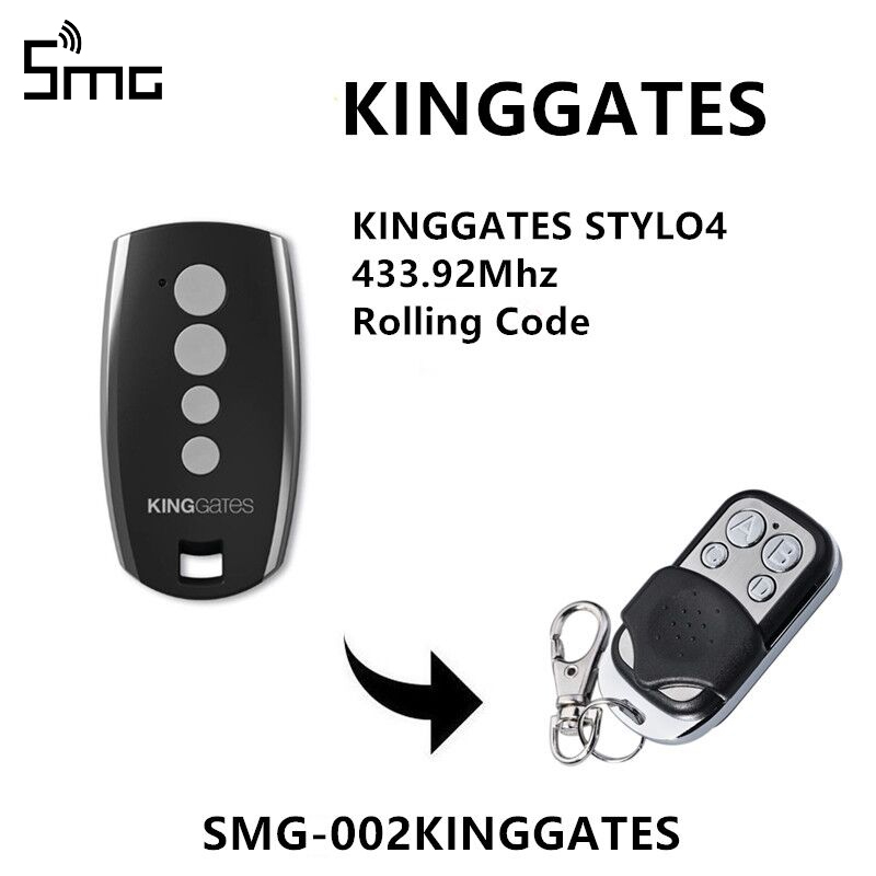 <font><b>For</b></font> King <font><b>Gates</b></font> Stylo 4K garage <font><b>remote</b></font> 433.92mhz handheld transmitter Kinggates <font><b>gate</b></font> control key fob rolling code image
