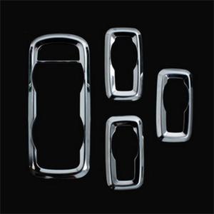 Image 2 - 4Pcs/set Window Lift Switch Sticker Interior Door Button Trim Cover For Ford Fiesta 3/Ecosport/MK7 Decoration Accessories