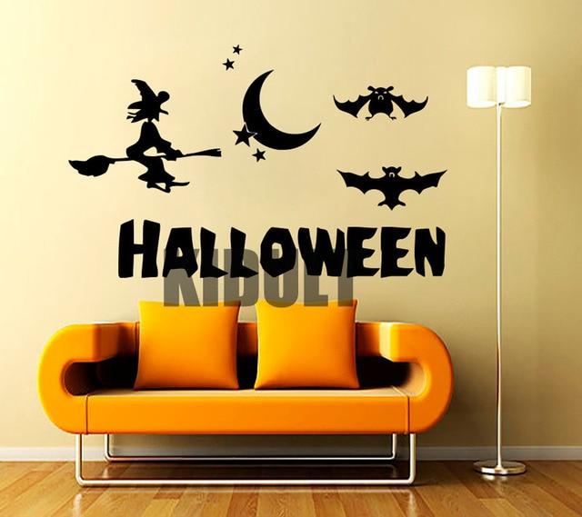 Halloween Hexe Dekoration Wandaufkleber Wohnzimmer Schlafzimmer  Wandaufkleber Dekorative Vinyl Wandmalereien Bar Nachtclub Künstlerische  Tapete