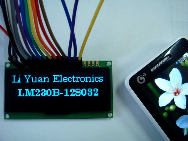 2.3 inch blue128x32 OLED display  OLED module