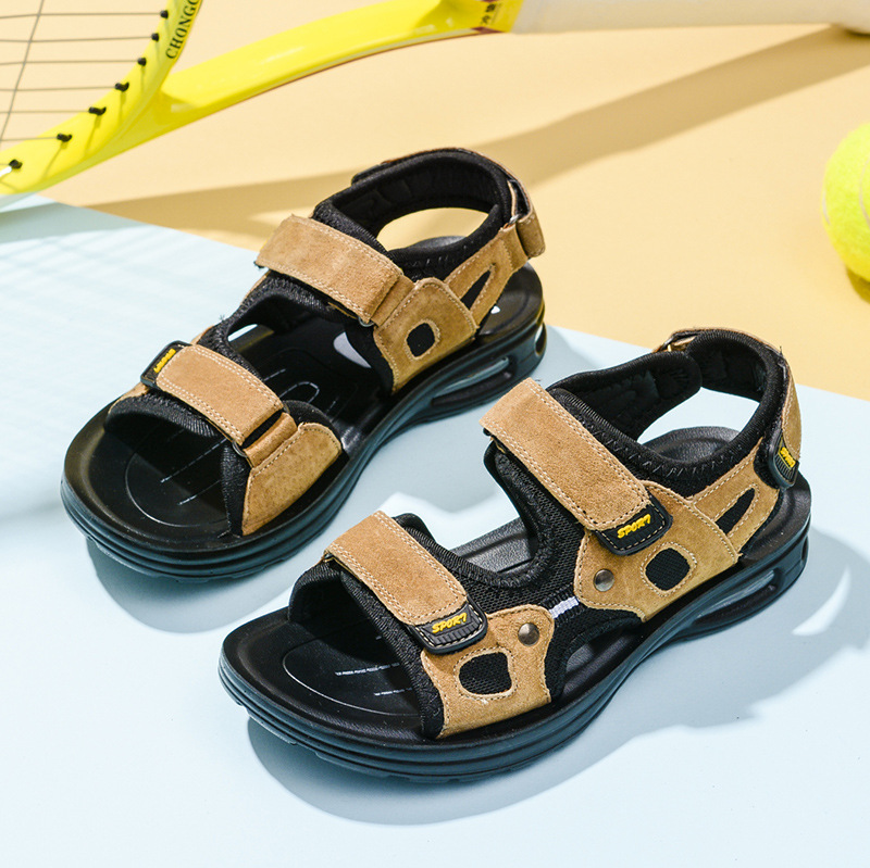 2018 Summer Kids Sandals Brand Soft Leather Children School Shoes for Boys Sandals Sport PU Leather Sandals for Boys