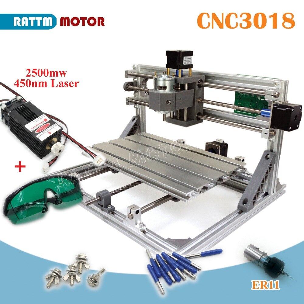 Vaisseau RUS!! CNC 3018 GRBL contrôle bricolage CNC machine 30x18x4.5 cm, 3 axes Pcb Pvc fraiseuse bois routeur laser gravure v2.5 - 2
